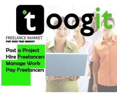 freelancer work from toogit.com great place to work, trust delivered online