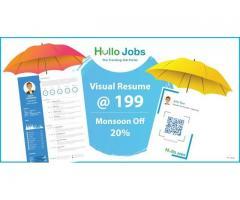 Discounted Visual Resume at 199 Get Special Pocket Resume